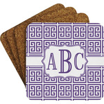 Greek Key Coaster Set (Personalized)