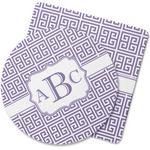 Greek Key Rubber Backed Coaster (Personalized)
