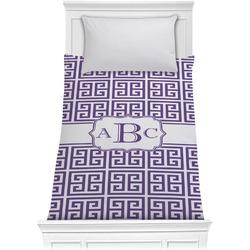Greek Key Comforter - Twin XL (Personalized)