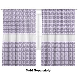 "Greek Key Curtains - 20""x54"" Panels - Lined (2 Panels Per Set) (Personalized)"