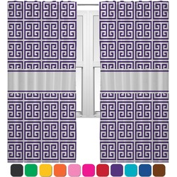 Greek Key Curtains (2 Panels Per Set) (Personalized)