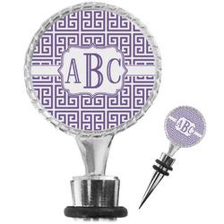 Greek Key Wine Bottle Stopper (Personalized)