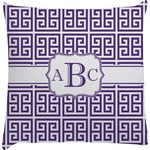 Greek Key Decorative Pillow Case (Personalized)