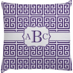 Greek Key Decorative Pillow Case (Personalized)