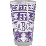 Greek Key Drinking / Pint Glass (Personalized)