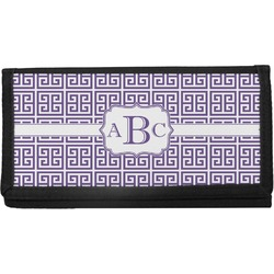 Greek Key Canvas Checkbook Cover (Personalized)