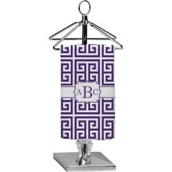 Greek Key Finger Tip Towel - Full Print (Personalized)