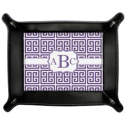 Greek Key Genuine Leather Valet Tray (Personalized)