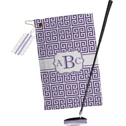 Greek Key Golf Towel Gift Set (Personalized)