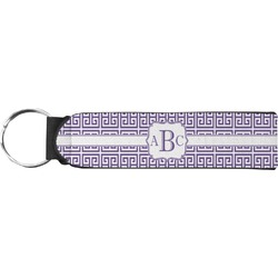 Greek Key Keychain Fob (Personalized)