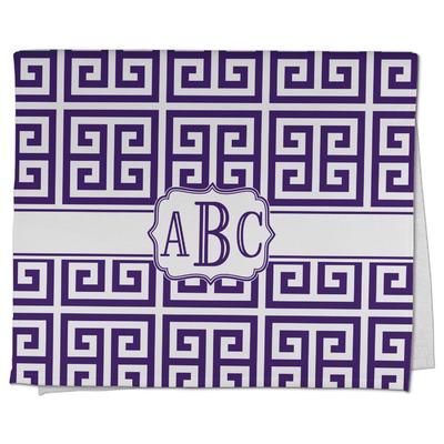 Greek Key Kitchen Towel - Full Print (Personalized)