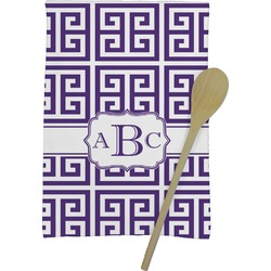 Greek Key Kitchen Towel - Full Print (Personalized)