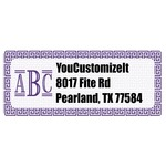 Greek Key Return Address Labels (Personalized)
