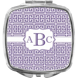 Greek Key Compact Makeup Mirror (Personalized)
