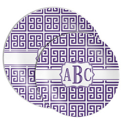 Greek Key Melamine Plate (Personalized)