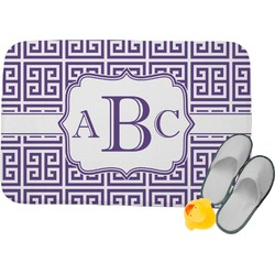 Greek Key Memory Foam Bath Mat (Personalized)
