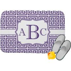 Greek Key Memory Foam Bath Mat (Personalized)