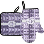 Greek Key Oven Mitt & Pot Holder (Personalized)