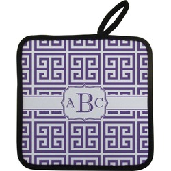 Greek Key Pot Holder (Personalized)