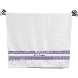 Greek Key Bath Towel (Personalized)