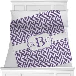 Greek Key Minky Blanket (Personalized)