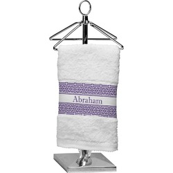 Greek Key Cotton Finger Tip Towel (Personalized)