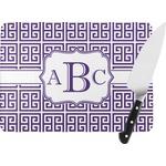 Greek Key Rectangular Glass Cutting Board (Personalized)