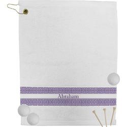 Greek Key Golf Towel (Personalized)