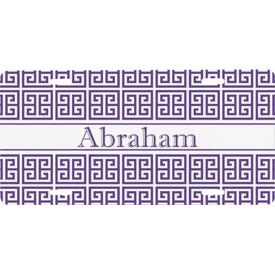 Greek Key Front License Plate (Personalized)