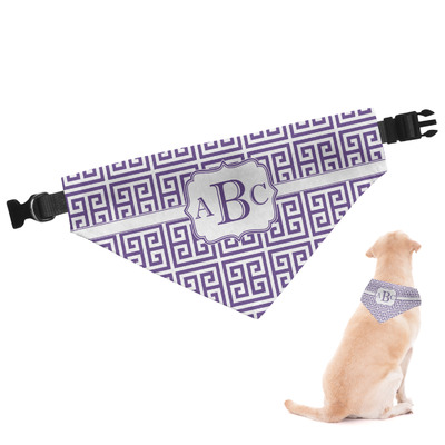 Greek Key Dog Bandana (Personalized)