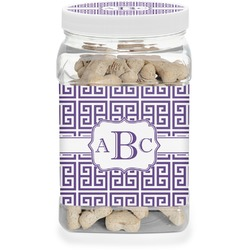 Greek Key Pet Treat Jar (Personalized)