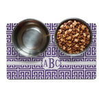 Greek Key Dog Food Mat (Personalized)