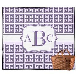 Greek Key Outdoor Picnic Blanket (Personalized)