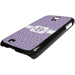 Greek Key Plastic Samsung Galaxy 4 Phone Case (Personalized)
