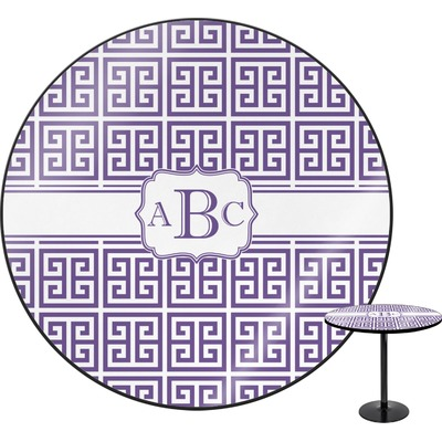 Greek Key Round Table (Personalized)