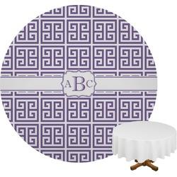 Greek Key Round Tablecloth (Personalized)
