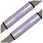 Greek Key Seat Belt Covers (Set of 2) (Personalized)