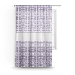 "Greek Key Sheer Curtain - 50""x84"" (Personalized)"