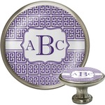 Greek Key Cabinet Knob (Silver) (Personalized)