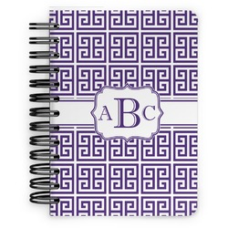 Greek Key Spiral Bound Notebook - 5x7 (Personalized)