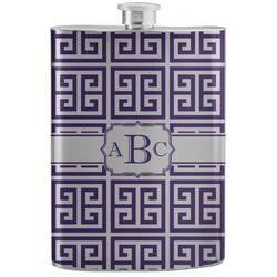 Greek Key Stainless Steel Flask (Personalized)