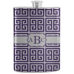 Greek Key Stainless Steel Flask (Personalized)
