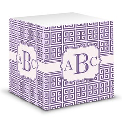 Greek Key Sticky Note Cube (Personalized)