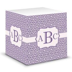 Greek Key Sticky Note Cube (Personalized)