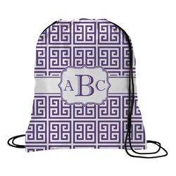 Greek Key Drawstring Backpack (Personalized)