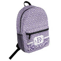 Greek Key Student Backpack (Personalized)