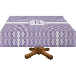 Greek Key Rectangle Tablecloth (Personalized)