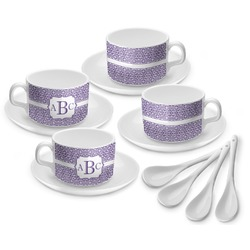 Greek Key Tea Cup - Set of 4 (Personalized)