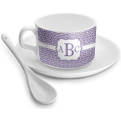 Greek Key Tea Cup - Single (Personalized)
