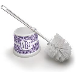 Greek Key Toilet Brush (Personalized)